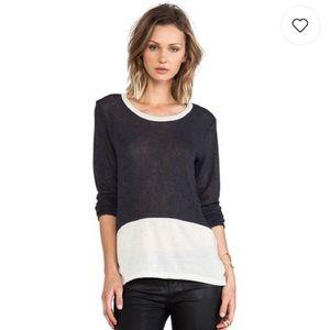 LNA Color Block Lightweight Sweater